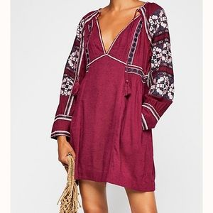 FREE PEOPLE all my life western embroidered dress!